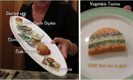 07-12 Appetizer sampler, vegetable terrine